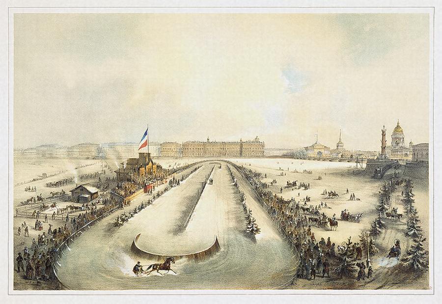 1 Бега на Неве 1859 А Авнатамов Шарлемань Эрмитаж
