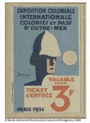 Колониальная выставка 1931 билет
