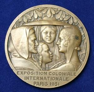 Колониальная выставка 1931 медаль