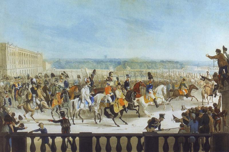 Alexandre 1814 Вступление Ал I в Париж неизв павловск