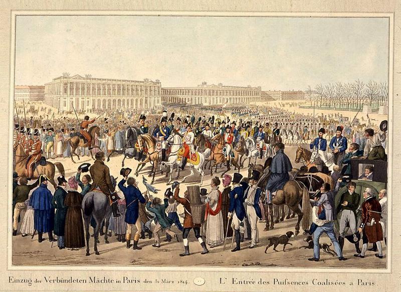Alexandre 1814 Вступление в Париж гр Неизв Вена
