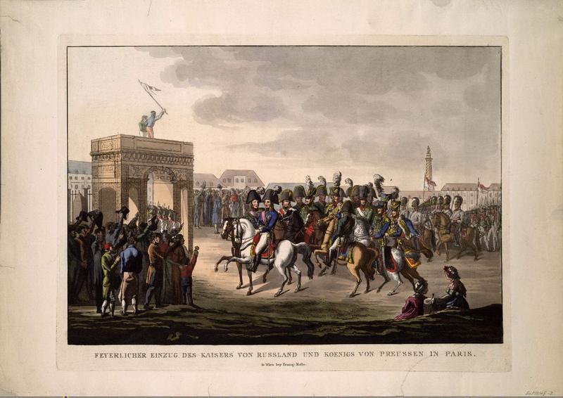 Alexandre 1814 Вступление русских войск в Париж гр Молло Вена