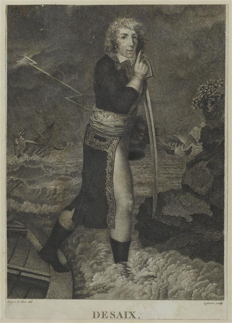 Дезе Луи Шарль Антуан высадка в ночь в бурю после пересечения Рейна чтоб атак форт Кель 24 06 1796 гр Лефевра Версаль