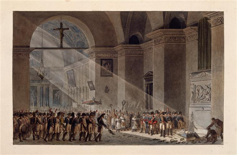 Отпевание Дезе в часовне Мон Сен Бернар 1802 1804 К Буржуа де Кастле Лувр