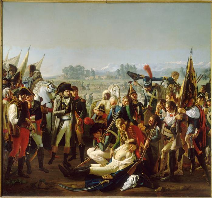 Смерть генерала Дезе в итве при Маренго 14 июня 1800 Жан Брок 1806 Версаль