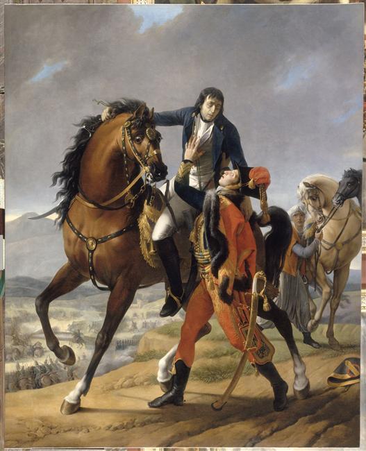 Смерть генерала Дезе на руках сына консула Лебрюна в битве при Маренго 14 июня 1800 19 в Ж Б Реньо Версаль