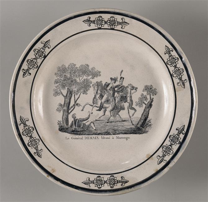 Тарелка Смерть Дезе 1810 1820 Мальмезон