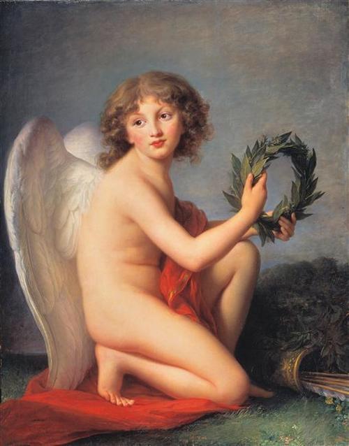 Любомирский Генрих 1789 Виже Лебрен в виде гения славы Берлинская картинная галлерея