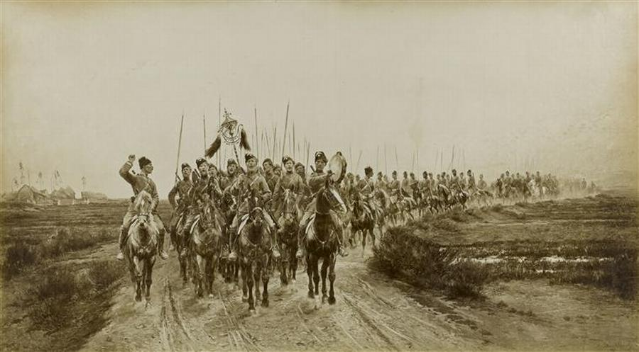 Возвращение в лагерь в Красном Селе казаков Атаманского полка ок 1889 фото Музей армии2