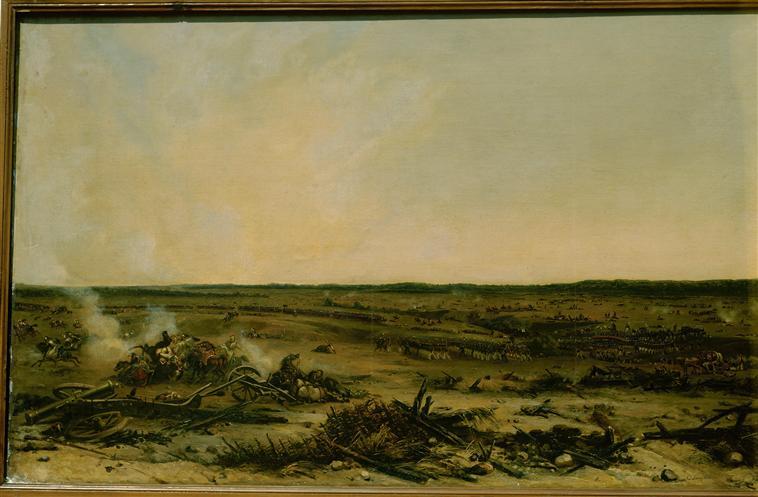 Панорама битвы при Москве реке 7 сент 1812 1835 1839 Ж-Ш Лангле Муз армии0