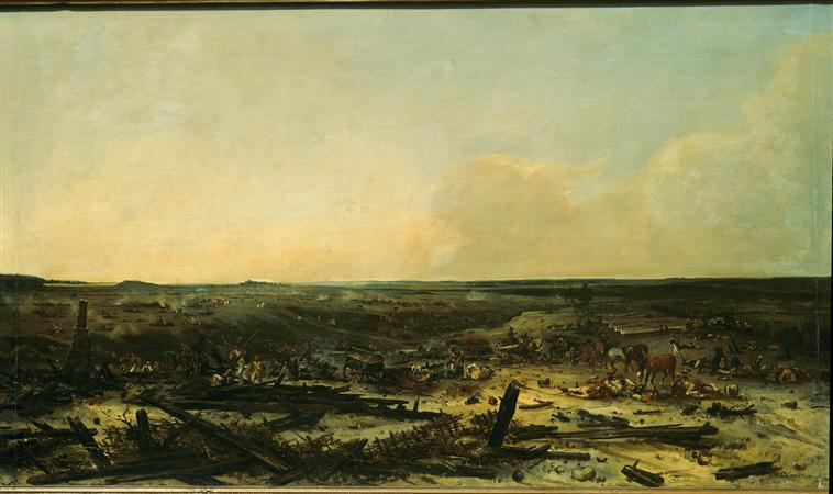 Панорама битвы при Москве реке 7 сент 1812 1835 1839 Ж-Ш Лангле Муз армии2