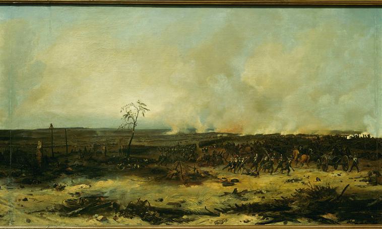 Панорама битвы при Москве реке 7 сент 1812 1835 1839 Ж-Ш Лангле Муз армии3