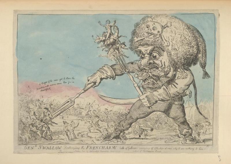 Генерал Суворов уничт фр армию 1799 Крукшенк