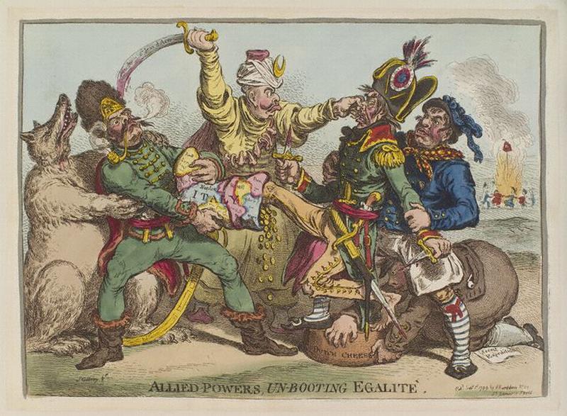 Союзные силы разувающие Эгалите 1799 Гилрой