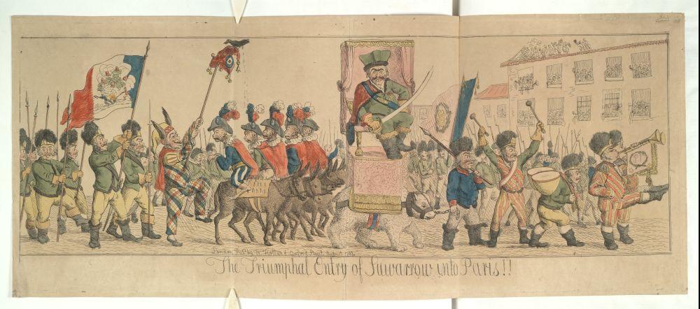 Триумфальный вход Суворова в Париж 1799