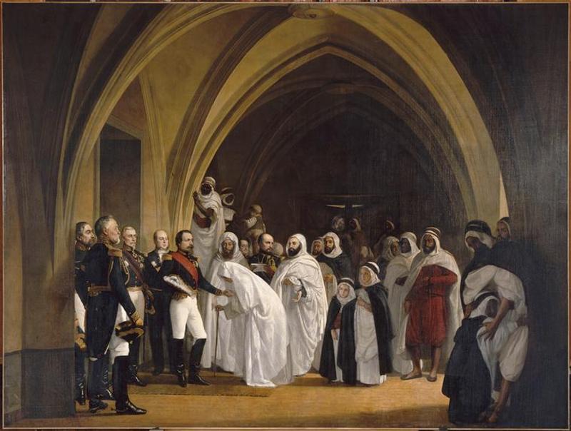 Принц-президент Луи Наполеон возвещает Абд ель Кадеру о его освобождении в Амбуазском замке 16 окт 1852 1861 А Тиссье Версаль