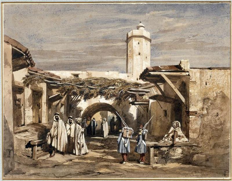 Алж ворота в Блиде Адриан Доза 1840 Музей Конде Шантильи