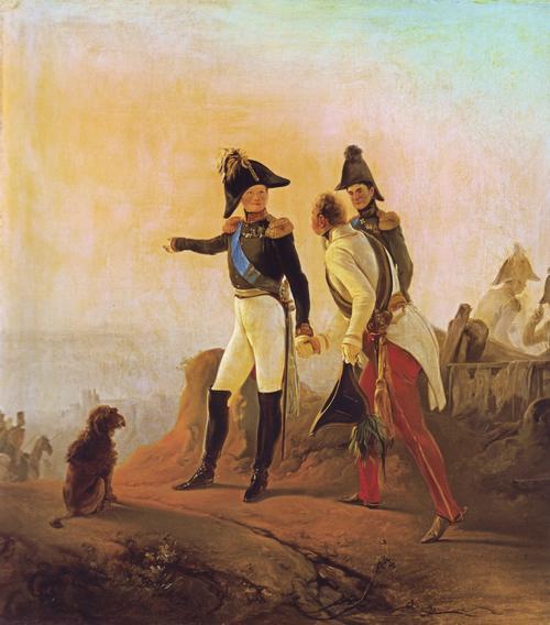 00 Alexandre 1814 Сцена в военном лагере перв четв 19 в Неизв Эрмитаж