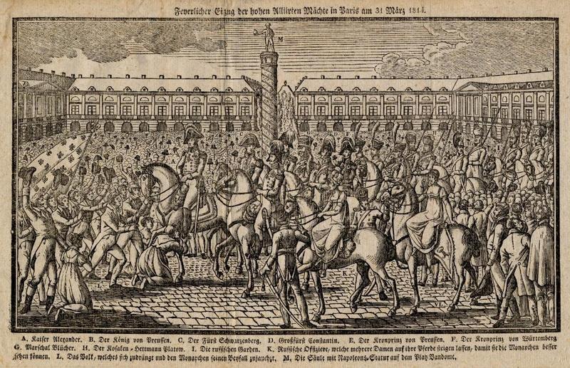07 Alexandre 1814 Въезд в Париж