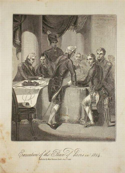 08Alexandre 1814 Подписание мира в Париже