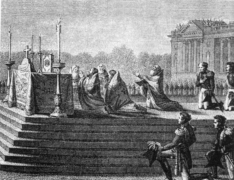 10 Alexandre 1814 молебен в Париже 19 марта 1814 фрагмент
