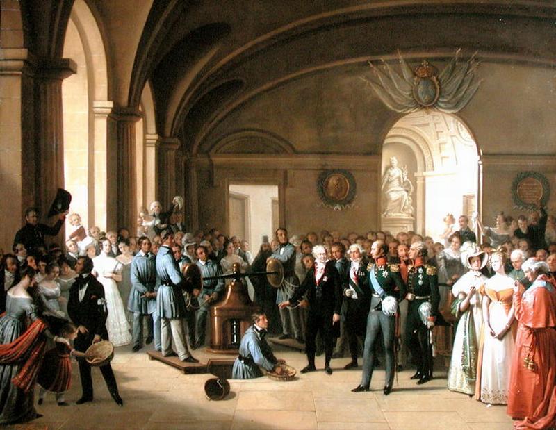 11 Alexandre 1814 посещение монетного двора Э А Т Пингре Pingret