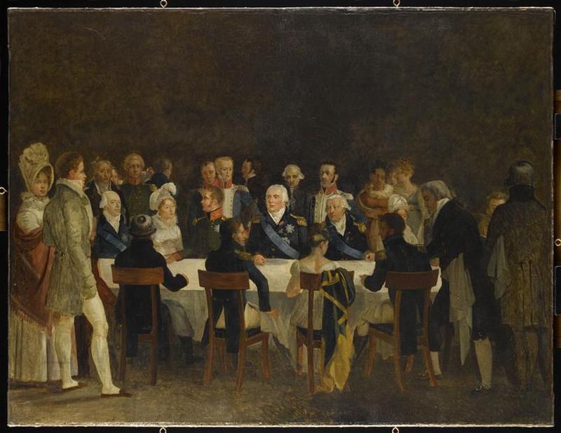 13 Обед короля Людовика 16 и царя Александра 1 1814 19 в Компьень