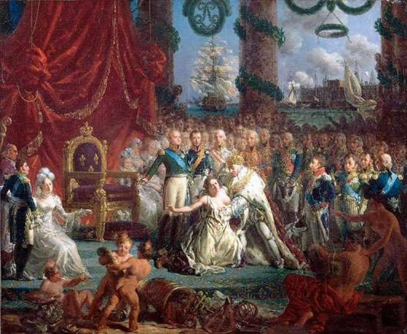 14 Alexandre 1814  Аллегория на возвр Бурбонов  Крепен Версаль