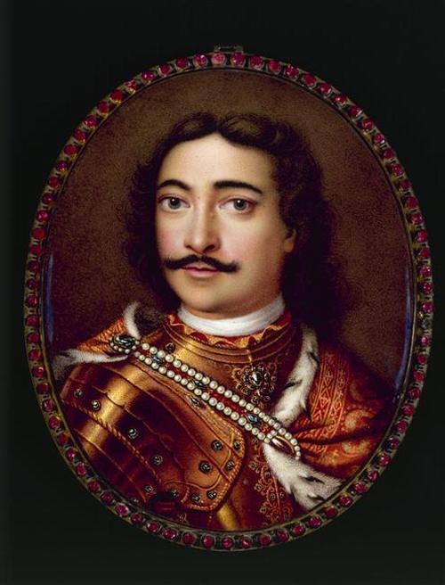 02 Портрет царя Петра 1 1712 Г-Ж Динглинжер  Dinglinger Дрезден