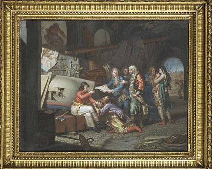 11 Петр великий в Амстердаме 1796 Павел Иванов Лувр2