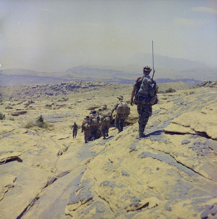 Группа лег 2 пех полка на патрулировании во вр оп Промет апр июнь 1960 М Фламан