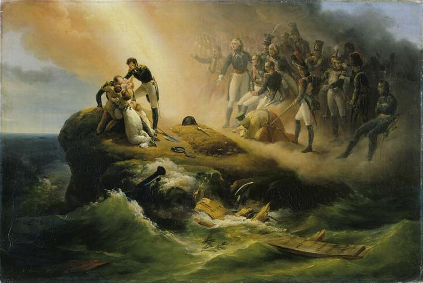 Могила Наполеона 1824 в О верне Лондон  кол wallace