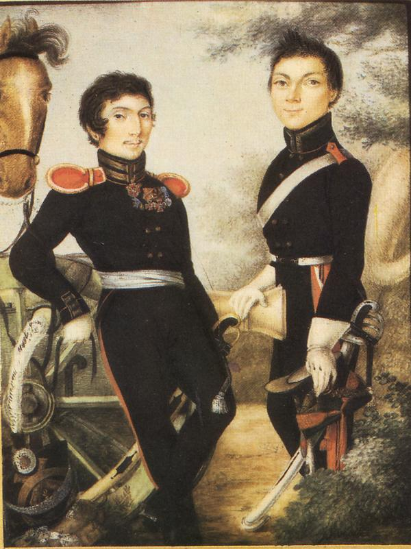 Артиллеристы кон 1810 нач 1820 неиз Ист муз