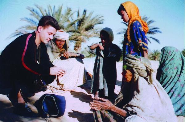 Посещение лагеря номадов рядом с Уарглой 1960 1961 Г Даниэль