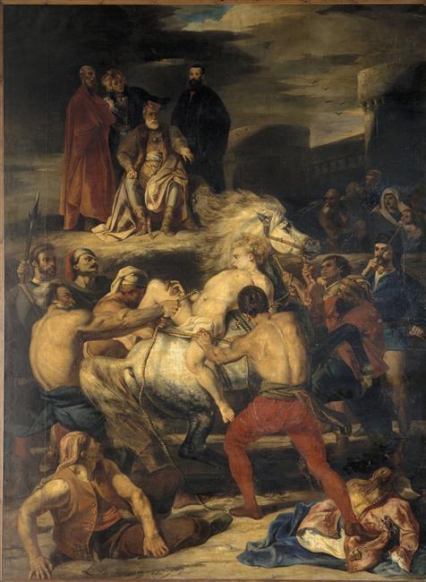 001 Наказание Мазепы 1827 Л Буланже Муз из иск Руан