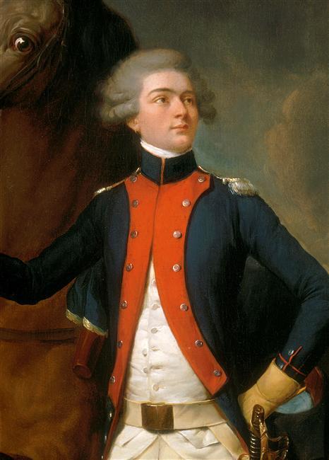 Лафайетт в форме капитана полка Ноай 1788 Буальи Версаль