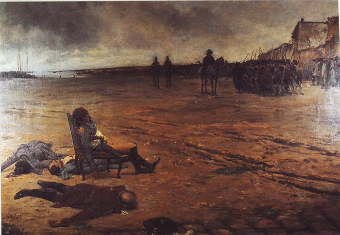 Смерть генерала д Эльбе 1878 Ж Леблан замок Нуармутье