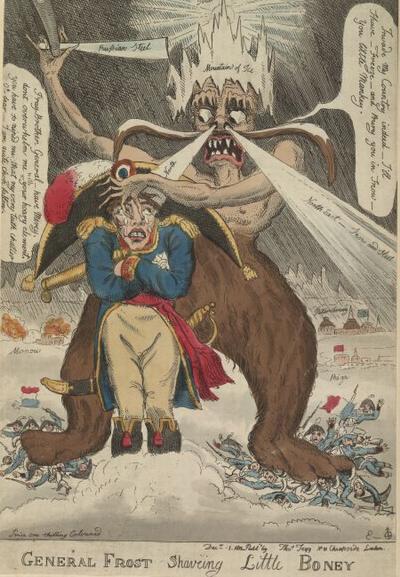 02 Генерал Мороз бреет малыша Бони 1 дек 1812 У Эльмс