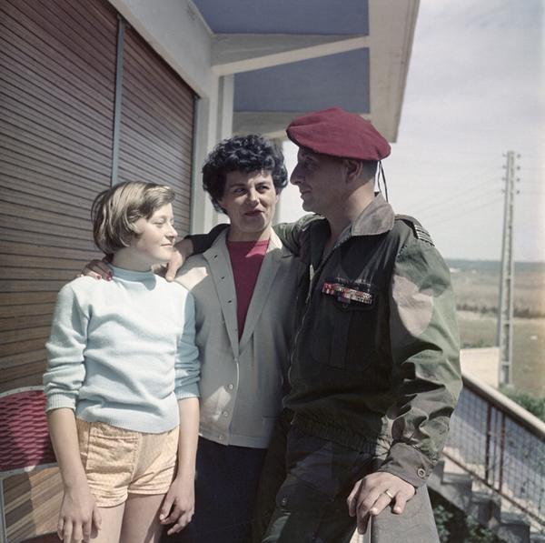 Бижар с семьей 1960 Саида Фламан