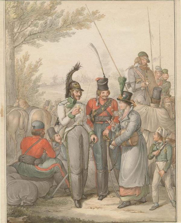 Russian troops in Germany, c. 1813     Opiz 1813  j
