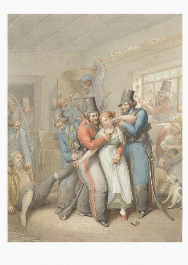 Казаки грабят бюргерский дом 1810-е Опиц2