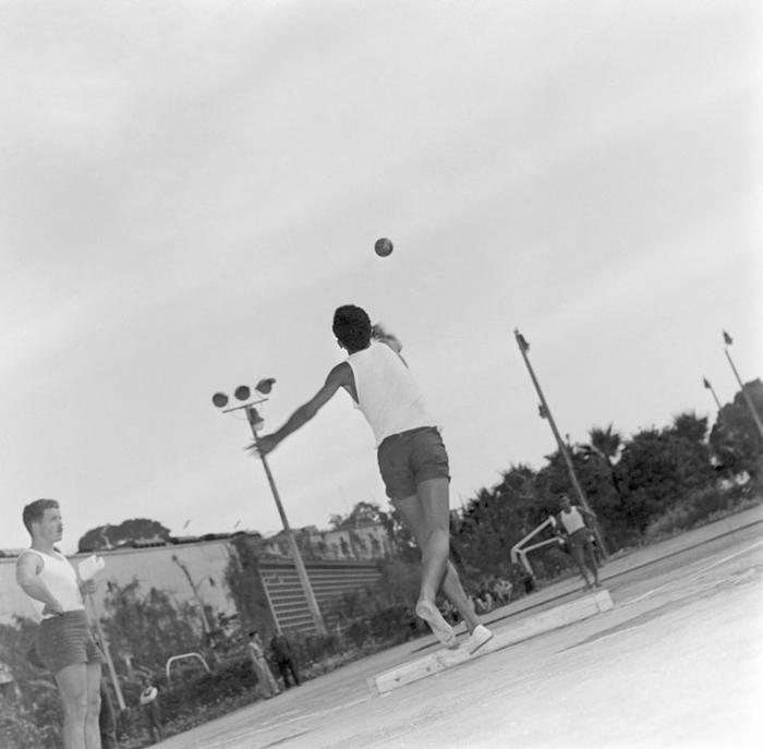 Толкание ядра июль 1959 Марк Фландруа