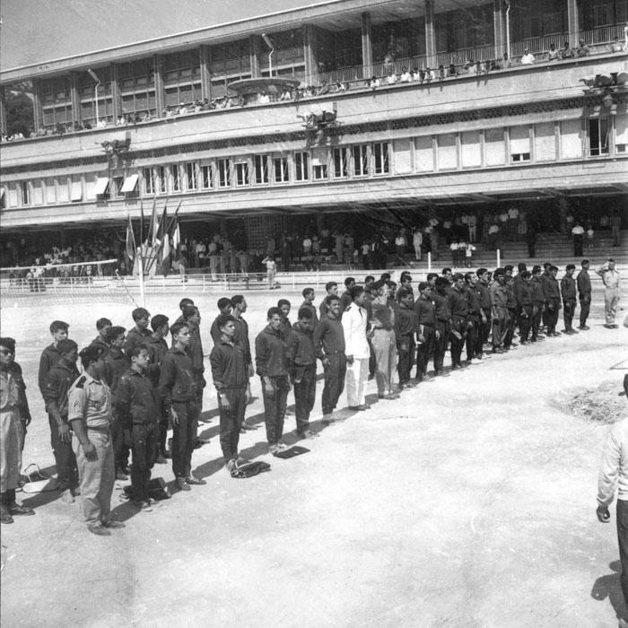 Парад участников июль 1959