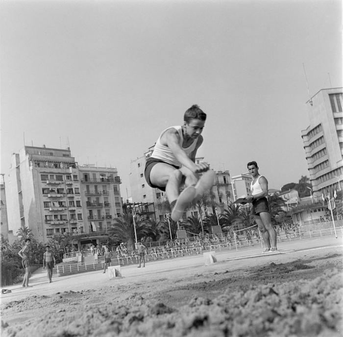 Прыжки в длину июль 1959 Марк Фландруа