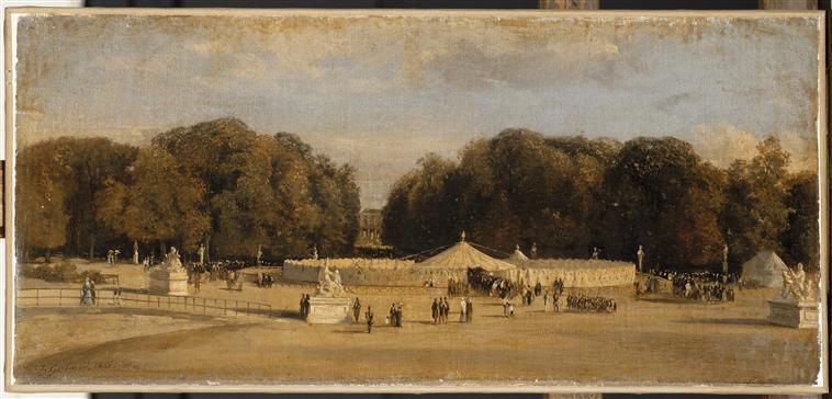 08 Вид интерьера шатра сына султана Марокко вз 14 авг 1844 в саду Тюильри в сент 1844 1845 Ж Жиро Версаль