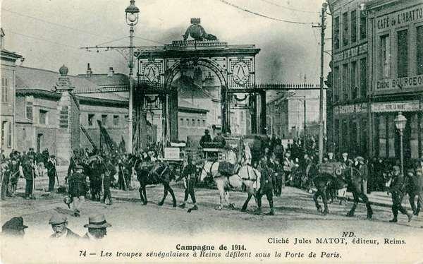 Сенегальские солдаты в Реймсе