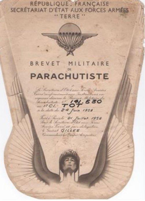 Сертификат парашютиста И Тот Наи