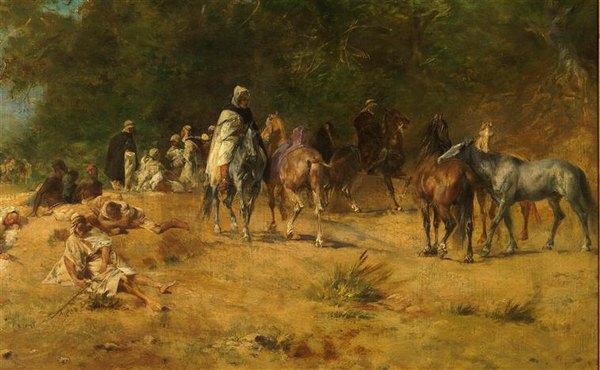 Привал арабских всадников в лесу 1868 в Фромантен Орсе