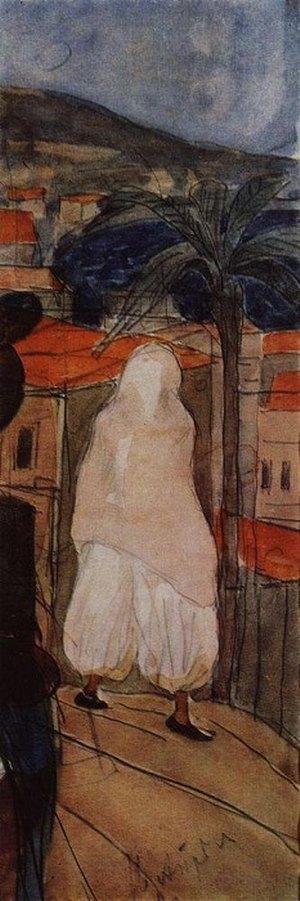 В чадре Африка 1907