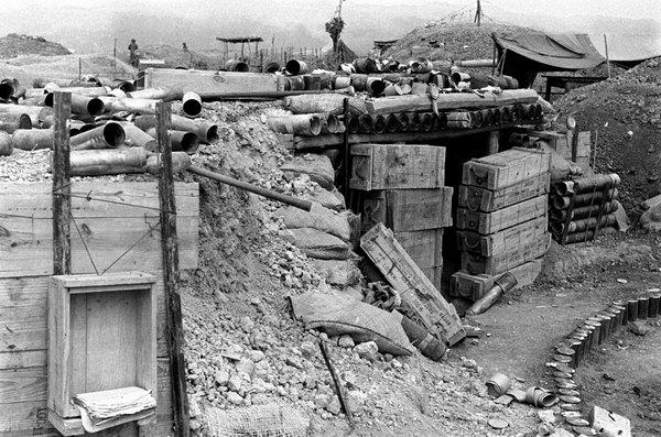 Вид на лагерь 1954 март Дьенбьенфу